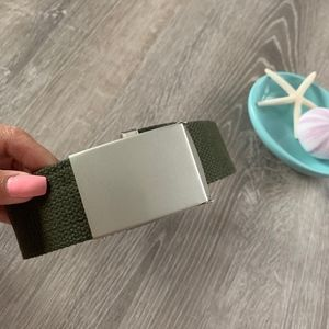 Accessories - Canvas Belt / Military Belt / Army Green